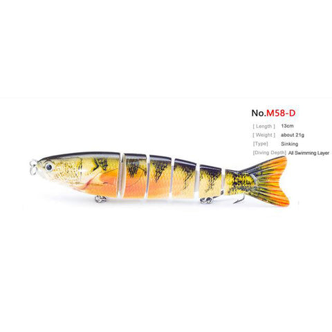 "1PCS 5.1""/13cm Multi 6 Jointed Saltwater Fishing Lures"