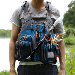 blue vest for fishing equipment men