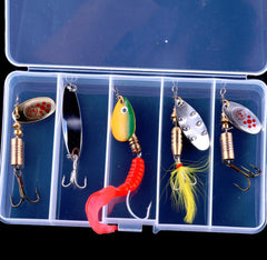 5 Items Mixed Trout Spinner Spoon for Bass Trout
