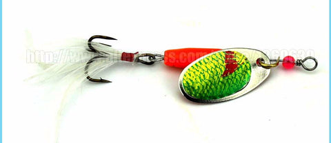 6pcs Spinner Bait Spoon Fishing Lure