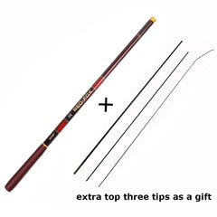 Telescopic Fishing Pole with Top 3 Spare Tips