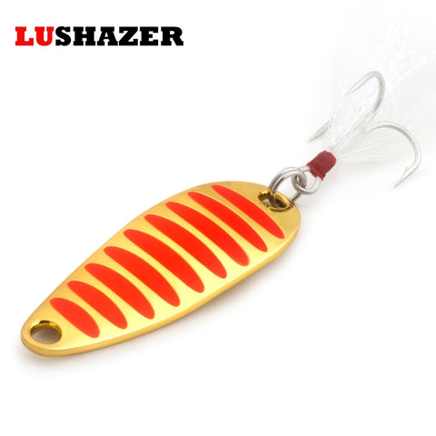 Gold/Silver Hard Metal Spoon Fishing Bait - 2g 5g 7g 10g 15g 20g