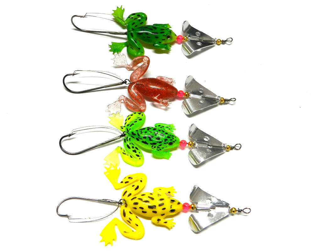 Soft Frogs Fishing Lure Set