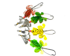 5pcs Soft Frogs Fishing Lure Set