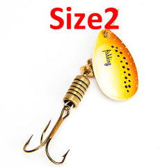 1PC Size0-Size5  Spinner bait Spoon Lures With Mustad Treble Hooks