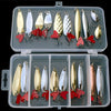 Image of Mixed Colors Spoon Bait Metal Lure Kit