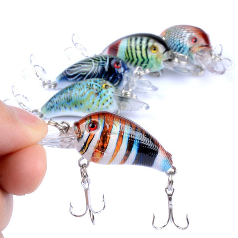5 Items/Lot Crankbaits Crappie and Bass Fishing Lures