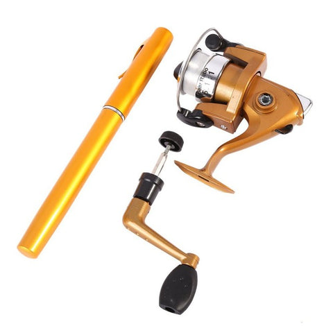 Telescopic Pocket Pen Shape Fishing Rod + Reel+ Fishing line