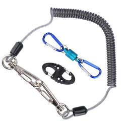 Lanyard Ropes + Magnetic Buckle+ 8-Shape Fast Buckle for Fishing