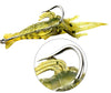 Image of 30PCS Saltwater/Freshwater Shrimp Lure with Hook 4cm 1.3g