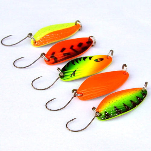 5pcs 4.5g mini fishing spoon trout lures fluttering spoons Japanese freshwater fishing lures spinner