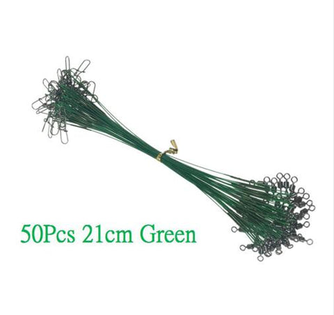 60 Pcs/lot 15cm 20cm 25cm Steel Wire Fishing Line