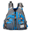 Image of blue fishing vest for boating men