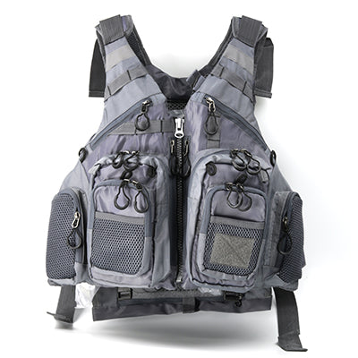 grey fishing vest for men womens