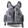 Image of grey fishing vest for men womens