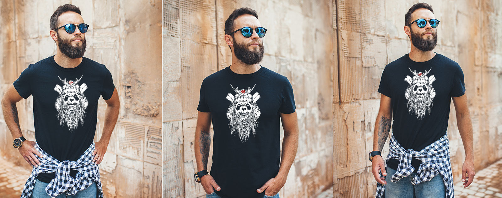 T-shirt barbu samouraï bio collection frenchy