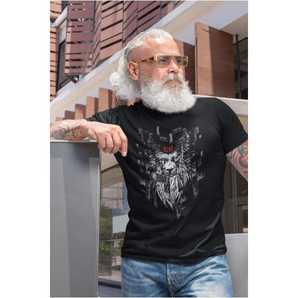 T-shirt - Lion digital barbu - Graham Hold