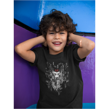 T-shirt Enfant - Lion digital barbu - GrahamHold Graham Hold
