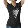 Tee-shirt Hibou grand duc noir encolure en V pour femme 100% coton Graham Hold