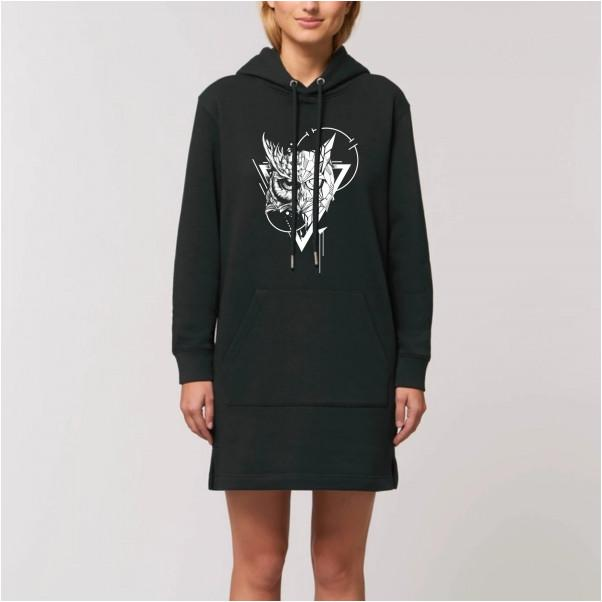 Robe sweat Hibou noir - Grahamhold Graham Hold