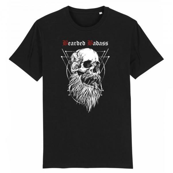T-shirt Barbu Bearded Badass Noir Bio Grahamhold