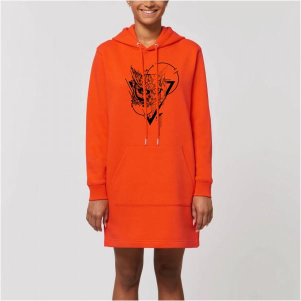 Robe sweat Hibou Orange - GrahamHold Graham Hold