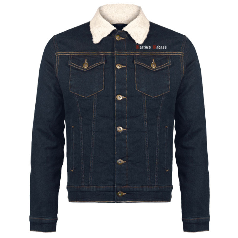 Veste en jean bearded badass grahamhold vêtements pour barbus