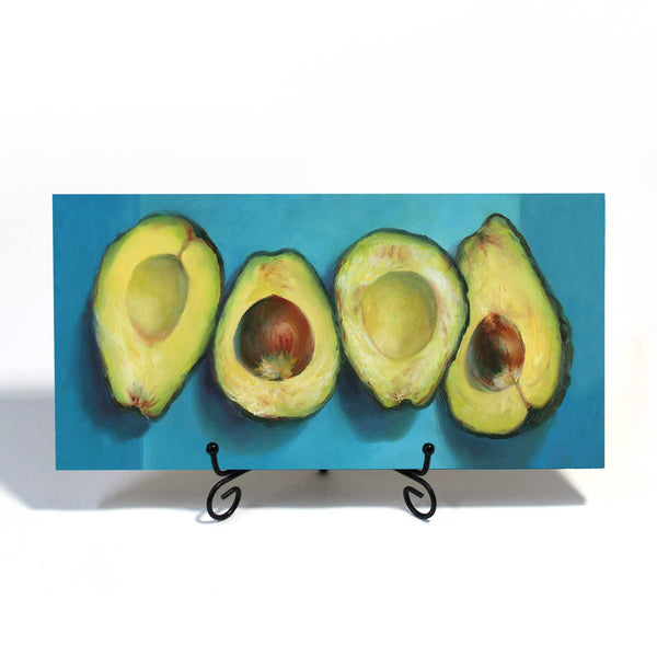 Avocado Groove : 6x11 inches - Galleria Fresco - food still life by Jo Bradney