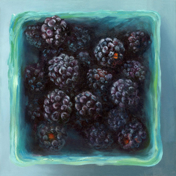 Blackberry Jewel Box : 8x8 inches - Galleria Fresco - food still life by Jo Bradney