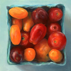 Tomato Jewel Box : 8x8 inches - Galleria Fresco - food still life by Jo Bradney