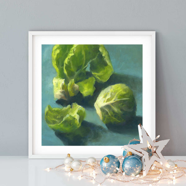 Brussels Sprout - Art Print - Galleria Fresco - food still life by Jo Bradney