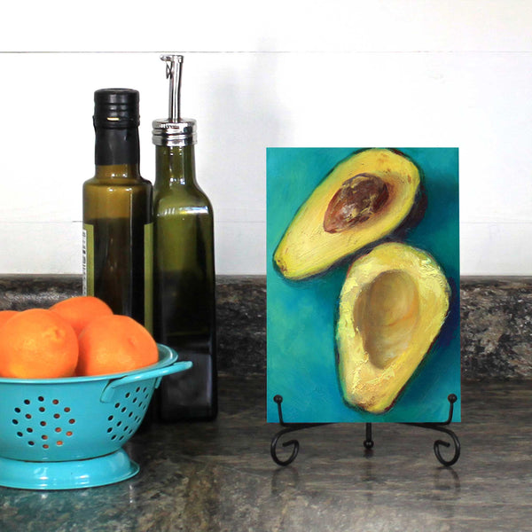 Avocado Twist : 5x7 inches - Galleria Fresco