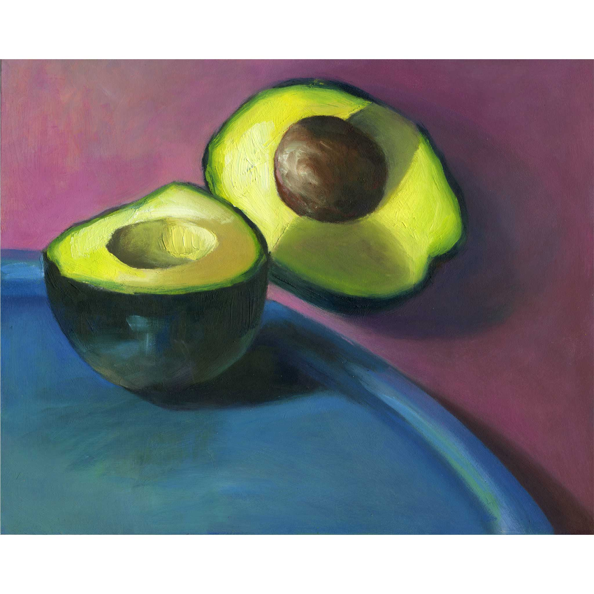 Soft Center - Avocado Art Print - Galleria Fresco - food still life by Jo Bradney