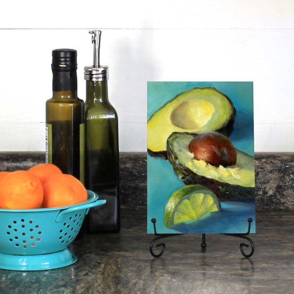 Turquoise Breeze : 5x7 inches - Galleria Fresco - food still life by Jo Bradney