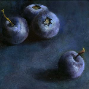 Blueberry Quartet - Art Print - Galleria Fresco - food still life by Jo Bradney
