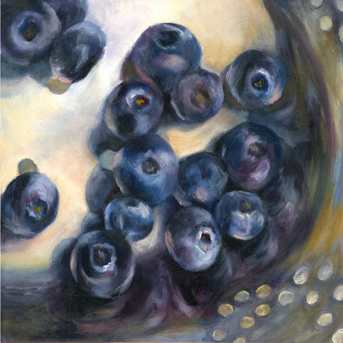 Blue Rinse - Blueberry Art Print - Galleria Fresco - food still life by Jo Bradney