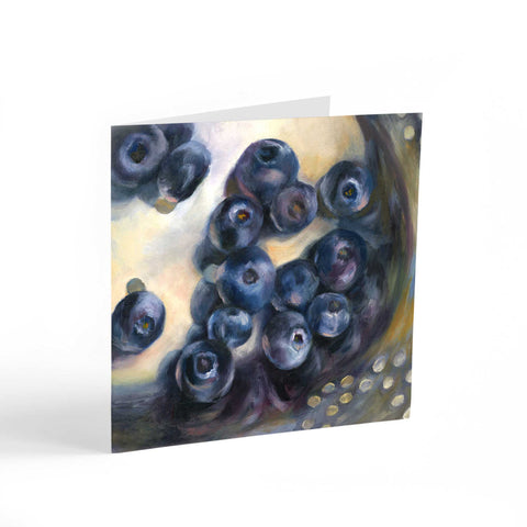 Blue Rinse - Blueberry Note Cards - Galleria Fresco - food still life by Jo Bradney