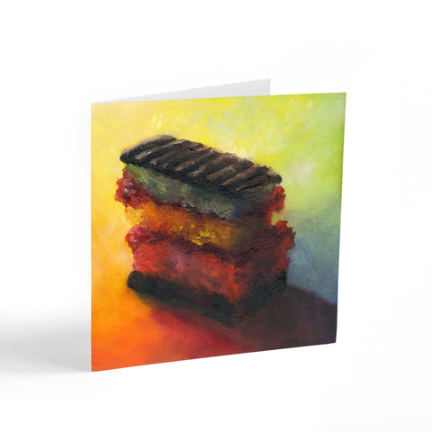 Irresistible Joy - Rainbow Cookie Note Cards - Galleria Fresco - food still life by Jo Bradney