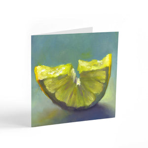 Just Add Ice - Lemon Note Cards - Galleria Fresco - food still life by Jo Bradney