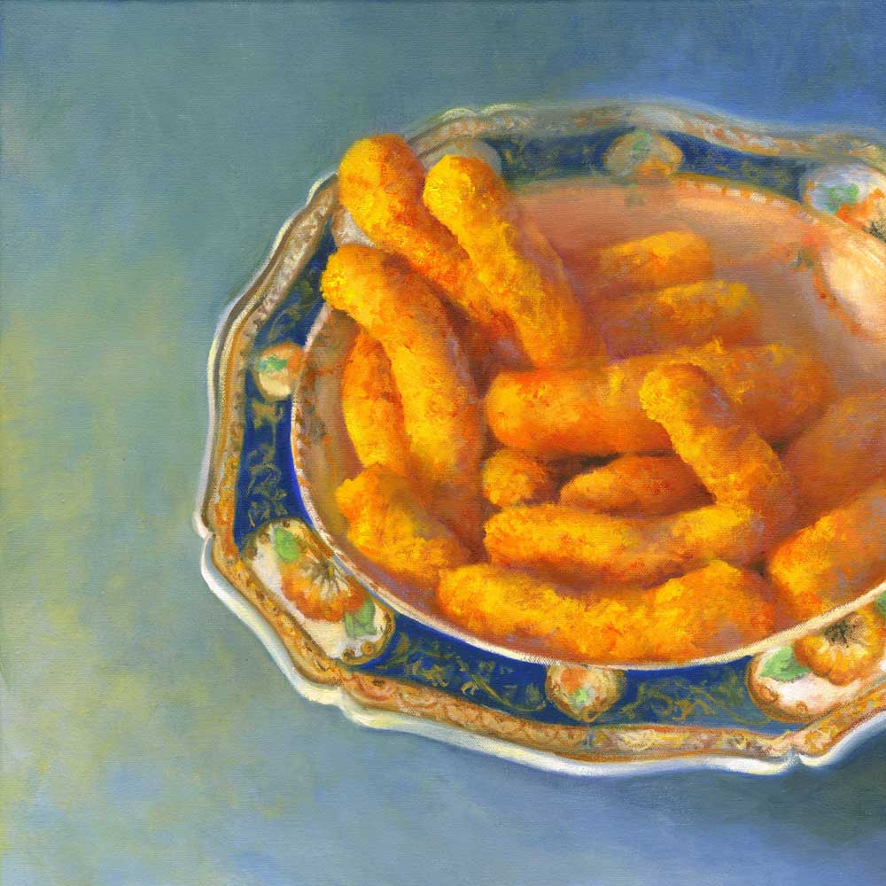 Cheese Puffs with Great Auntie - Art Print