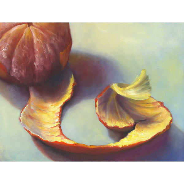 Unwinding Into Winter - Clementine Art Print - Galleria Fresco - food still life by Jo Bradney