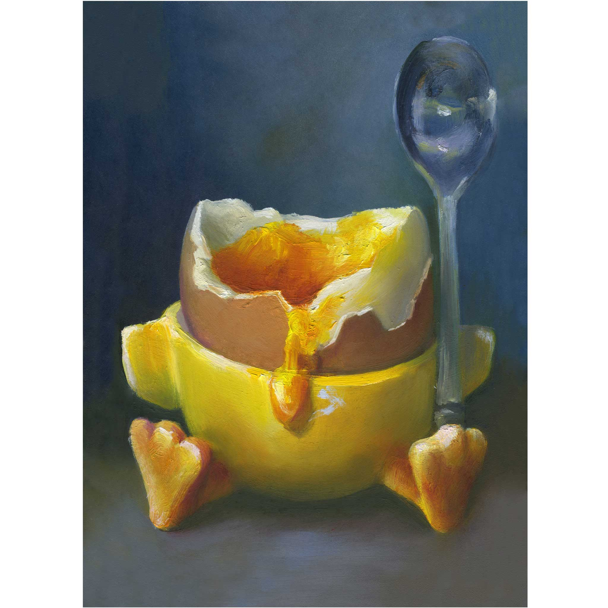 Dipping Into the Nest Egg - Art Print - Galleria Fresco - food still life by Jo Bradney