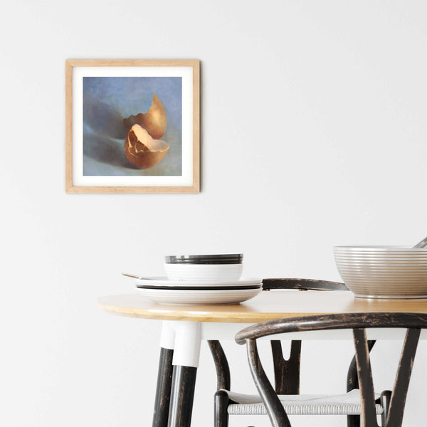 Perfectly Broken - Egg Art Print - Galleria Fresco - food still life by Jo Bradney