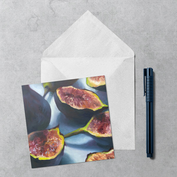fig.1 - Square Note Cards - Galleria Fresco - food still life by Jo Bradney