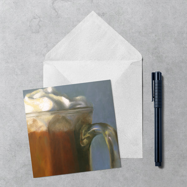 Winter's Splendor - Hot Chocolate Note Cards - Galleria Fresco - food still life by Jo Bradney