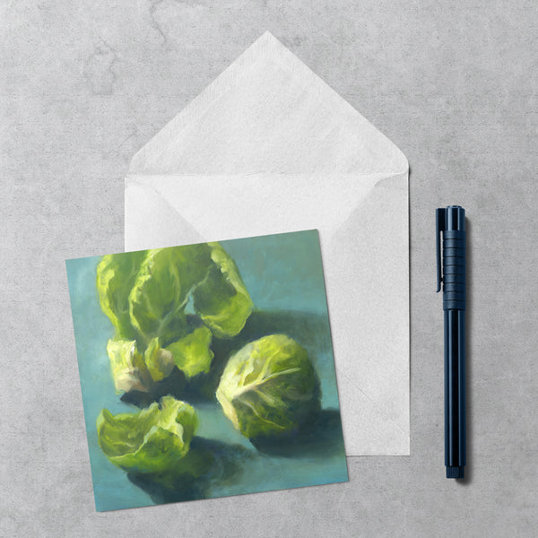 Sprout - Holiday Note Cards - Galleria Fresco - food still life by Jo Bradney