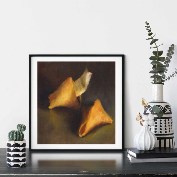 A Ray of Hope - Fortune Cookie Art Print - Galleria Fresco - food still life by Jo Bradney