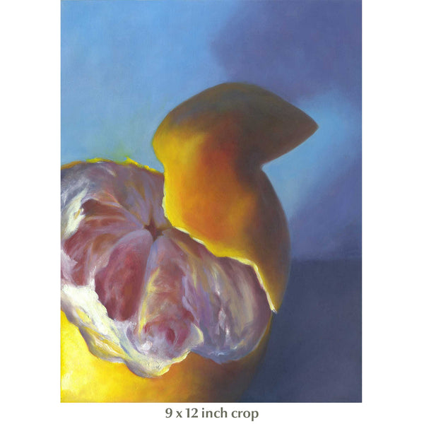 Breakfast Blush - Grapefruit Art Print - Galleria Fresco - food still life by Jo Bradney