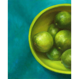 The Lime Bowl : 8x10 inches - Galleria Fresco - food still life by Jo Bradney