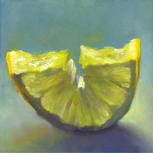 Just Add Ice - Lemon Art Print - Galleria Fresco - food still life by Jo Bradney